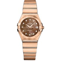 Omega Red gold Automatic Mother of pearl No numerals 27mm new Constellation Ladies