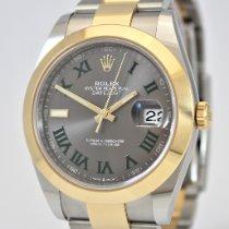 Rolex Datejust Yellow gold 41mm Grey No numerals