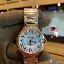 Cartier Rose gold Automatic Silver Roman numerals 42mmmm pre-owned Ballon Bleu 42mm