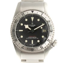 Tudor Steel Automatic Black 42mm pre-owned Black Bay