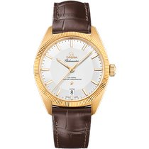 Omega Yellow gold Automatic Silver No numerals 39mm new Globemaster