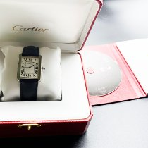 Cartier Tank Solo Steel 34.8mm Silver Roman numerals United States of America, Kansas, Wichita