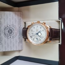 Longines Master Collection pre-owned 40mm Silver Moon phase Chronograph Date Weekday Month Leather