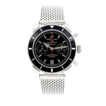 Breitling pre-owned Automatic 44mm Black Sapphire crystal 20 ATM