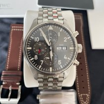 IWC Pilot Spitfire Chronograph Steel 43mm Grey Arabic numerals United States of America, Texas, Dallas