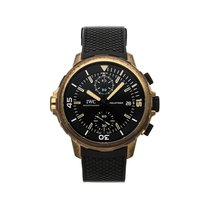 IWC Bronze Automatic Black No numerals 44mm pre-owned Aquatimer Chronograph