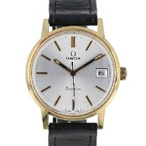 Omega Genève Gold/Steel 35mm Silver No numerals United States of America, Massachusetts, Boston