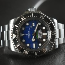 勞力士 Sea-Dweller Deepsea 鋼 44mm 藍色 無數字 香港