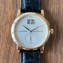 A. Lange & Söhne Yellow gold Manual winding Champagne No numerals 34mm pre-owned Saxonia