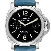 Panerai Luminor Marina Automatic Сталь 44mm Черный Aрабские