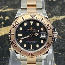 Rolex Yacht-Master 37 Gold/Steel 37mm Black No numerals