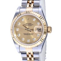 Rolex Lady-Datejust tweedehands 26mm Champagne Datum Goud/Staal