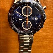 TAG Heuer Carrera Calibre 16 gebraucht 41mm Blau Chronograph Datum Stahl