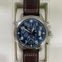 萬國 Pilot Double Chronograph IW371807 好 鋼 44mm 自動發條
