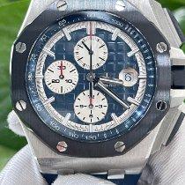 Audemars Piguet Platinum Automatic Blue No numerals 44mm pre-owned Royal Oak Offshore Chronograph