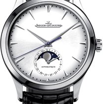 Jaeger-LeCoultre Master Ultra Thin Moon Stahl 39mm Silber Keine Ziffern
