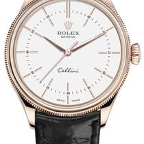 Rolex Cellini Time Oro rosa 39mm Blanco Sin cifras