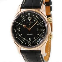 Longines Rose gold Automatic Black pre-owned Legend Diver