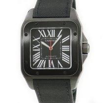 Cartier Titan Automatik Schwarz gebraucht Santos 100