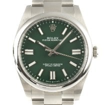 Rolex Oyster Perpetual Steel 41mm Green