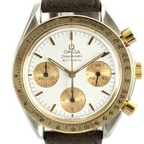 Omega Speedmaster Reduced Guld/Stål 39mm Vit