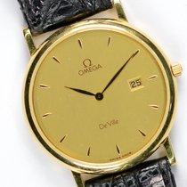 Omega De Ville pre-owned 32mm Gold Date Leather