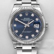 Rolex Datejust Золото/Cталь 36mm Синий