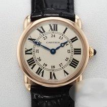 Cartier Roségold Quarz Silber Arabisch 29mm gebraucht Ronde Louis Cartier