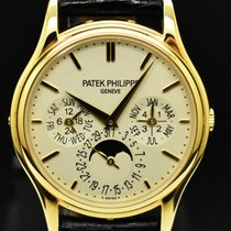 Patek Philippe Perpetual Calendar Yellow gold 37.2mm Silver No numerals
