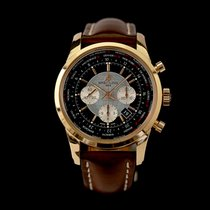 Breitling RB0510U4/BB63 Rose gold 2018 Transocean Chronograph Unitime 46mm pre-owned