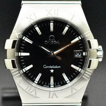 Omega Constellation Quartz Stål 35mm Svart Inga siffror