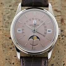 Patek Philippe White gold Automatic Pink 35mm pre-owned Perpetual Calendar