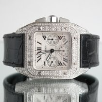 Cartier Santos 100 Сталь 41mm Белый Римские