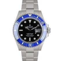 Rolex Submariner Date Or blanc 41mm Noir