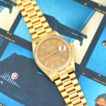 Rolex Datejust Yellow gold 36mm Brown No numerals