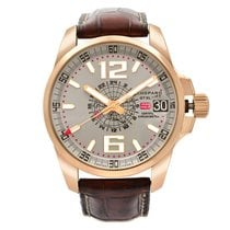 Chopard Rose gold Automatic Grey Arabic numerals 44mm pre-owned Mille Miglia
