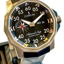 Corum Admiral's Cup Competition 48 używany 48mm Czarny Data Wskaźnik dnia tygodnia Kauczuk