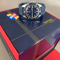 Oris Steel Automatic Blue No numerals 42mm pre-owned Divers Sixty Five