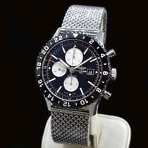 Breitling Chronoliner Steel 46mm Black No numerals