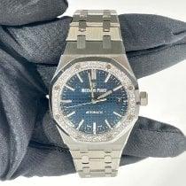 Audemars Piguet Steel Automatic Blue No numerals 37mm new Royal Oak Lady