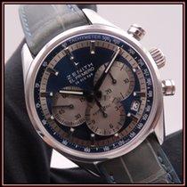 Zenith El Primero Original 1969 pre-owned 38mm Blue Chronograph Date Tachymeter Crocodile skin