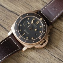 Panerai Bronze Automatic Brown No numerals 47mm pre-owned Luminor Submersible