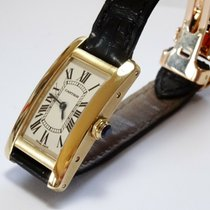 Cartier Tank Américaine Yellow gold 19mm White Roman numerals United States of America, New Hampshire, Portsmouth