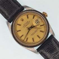 Rolex Datejust pre-owned 36mm Date Leather