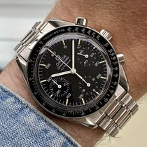 Omega Speedmaster Reduced pre-owned 38mm Black Chronograph Steel