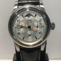 Oris Big Crown Complication Stahl 38mm Silber Arabisch
