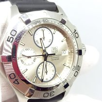 TAG Heuer Aquaracer 300M pre-owned 41mm Silver Chronograph Date Rubber
