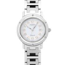 Hermès Clipper Stal 31mm Biały