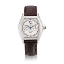 Cartier White gold Manual winding 33mm Tortue