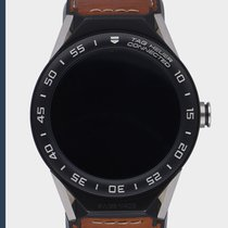 TAG Heuer Connected подержанные 45mm Черный Раскладнаязастежка